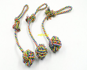 Wholesale large rope balls resale online - 5pcs cm Longt Cotton Dog Rope Toy Knot Puppy Chew Teething Toys Teeth Cleaning Pet Palying Ball For Small Medium Large Dog