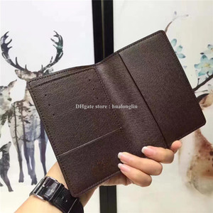 Wholesale passport gold resale online - Women and men Passport Holders Cards Bag original box high quality fashion resell discount
