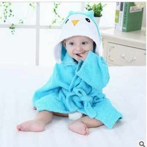 Wholesale 100 Cuttons Hooded Animal Baby Bathrobe Cartoon Baby Towel Character Kids Bath Robe Infant Towel