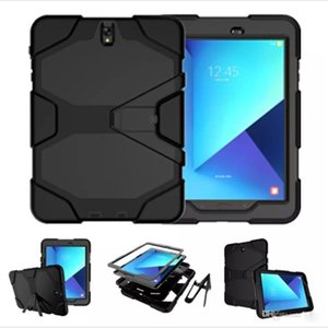 Wholesale For SAMSUNG GALAXY Tab S3 S2 Case PC Silicon in Treble Layered Shockproof Hybrid Case For ipad pro Air Mini OPP Bag