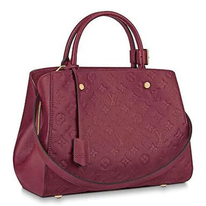 huweifeng3 MM MONTAIGNE M43258 Embossed burgundy Real Caviar Lambskin Le Boy Chain Flap Bag HANDBAGS SHOULDER MESSENGER BAGS TOTES