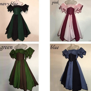 Wholesale Princess cosplay dress Ladies Victorian costume for girl lolita vintage medieval gothic dress women short sleeve dress