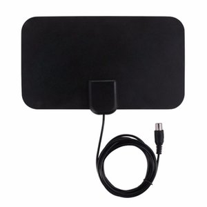 Wholesale SOONHUA Indoor Digital TV Antenna Receiver Miles Booster Active Aerial HD Flat Design DB High Gain US Plug For HDTV DTV Box