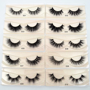 Mink Lashes 3D Mink Eyelashes 100% Cruelty free Lashes Handmade Reusable Natural Eyelashes Wispies False Lashes Makeup E series mink eyelash