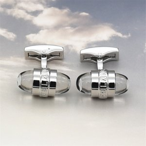 Wholesale European most cufflinks popular Hotsale High-grade round crystal style MB cufflink for gentleman gifts with good quality Men Ornaments