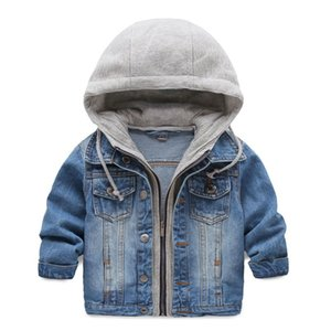 Wholesale Denim jacket s clothing children s coats Warm Outerwear Thick jacket spring new boy cowboy hooded two piece