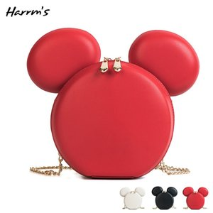 Wholesale Mini Bags Hot Cute Cartoon Mouse Women PU Leather Shoulder Bag For Woman Fashion Handbag Messenger Crossbody Mouse Bag