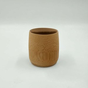 Wholesale Bamboo Carbonize Cup Kung Fu Tea Assessries Handmade Natural Retro Styling Crafts Water Cups ZA6160