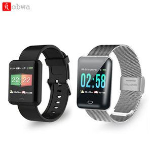 Wholesale KOBWA B8 Men smart watch Android smartwatch heart rate monitor multiple sport model fitness tracker women smart Bracelet for IOS