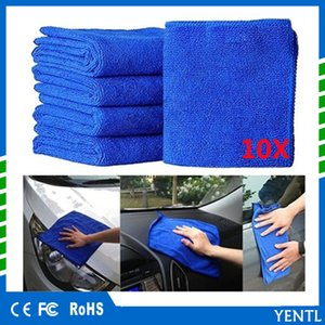 Wholesale Free shipping YENTL carcare 10pcs Car 30*70cm Thick Plush Microfiber Car Cleaning Cloth Car Washing Wax Polishing Detailing Towel Cleaner