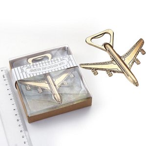 Wholesale gift giveaways for sale - Group buy Airplane bottle opener styles plane shaped beer opener for Wedding guests favor gift giveaways LX3384