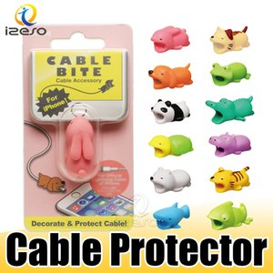Wholesale Hot Cable Bite Animal Bite Cable Protector Accessory Cute Animal Toys Cable Bites Dog Pig Elephant for iPhone Smartphone Charger Cord