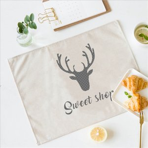 Nordic Antler Placemat For Individual Dining Table Mat Home Decoration Kitchen Accessories Modern Stand Under Hot The Cup Pads