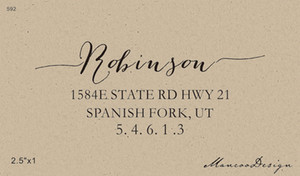 "2.5""x1"" Wedding Favor Custom Family Wooden Return Address Stamp For Scrapbooking Vintage Gift"