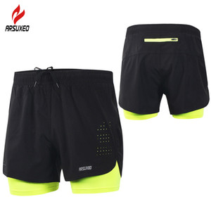 Wholesale New Running Shorts Men 2 In 1 Compression Marathon Quick Dry Gym Tights Sport Shorts with Reflective Zipper Pocket