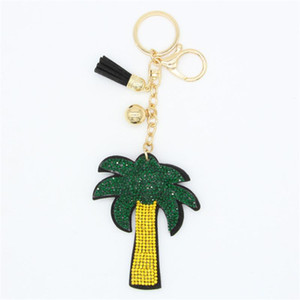 New fashion Key Chain Accessories Tassel Key Ring Palm Tree Key Ring Coconut Tree Car Keychain Holder Jewelry Bag Charms Party Wedding Gift