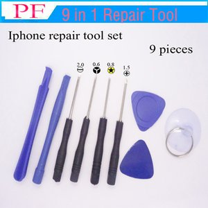 Wholesale 9 in Mobile Phone Repairing Tool Kit Spudger Pry Opening Tool LCD Repair Tools with screwdrivers for Iphone tool