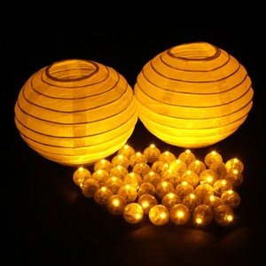 Wholesale NEW Design Yellow Mini Balloon Lamp Led Ball Light For Paper Lantern Balloon Wedding Party Floral Decoration Halloween Suppies