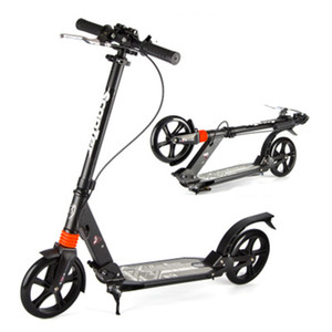 Wholesale new scooters wheels resale online - New arrivaled City fashion two wheel scooter adult folding design portable Scooter adjustable gears black white bearing KG