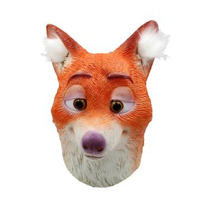 Wholesale Movie Cosplay Mask Latex Fox Helmet Halloween Party Cosplay Costume Prop Full Face Headgear