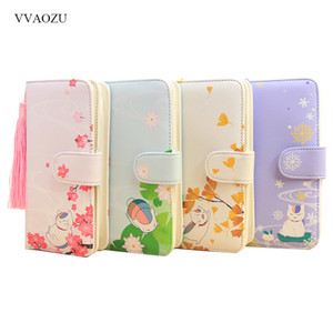 Natsume Yuujinchou Long Wallet Nyanko Sensei Cat Lolita Girls Zipper Wallets Women Cartoon Phone Clutch Bag Card Holder Purse