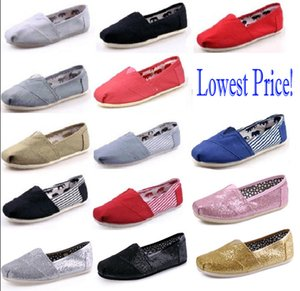 Wholesale DORP shipping HOT New Brand Women and Men Fashion Sneakers Canvas Shoes tom shoes loafers Flats Espadrilles shoes Size