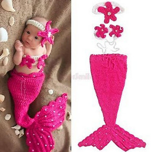 Wholesale newborn Crochet photography Newborn Boy Girls Crochet Knitted Baby Outfits Costume Set Photography Photo