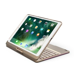 Wholesale Rotating Metal Wireless Bluetooth 3.0 Keyboard 7 Colors Backlit for ipad air air2 pro9.7 2017 new ipad 2018 new ipad