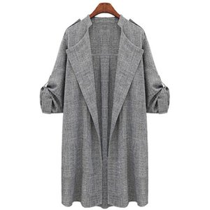 New Fashion Autumn Spring Women Open Front Coat Long Cloak Jackets Overcoat Waterfall Cardigan Female Blusas