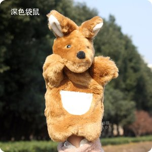 Wholesale 1pc cm plush puppets animal funny kangaroo kindergarten story role pacify boy girl infant stuffed toy