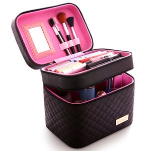Wholesale Women Cosmetic Box Designer High Quality Portable Cosmetic Bag Large Capacity PU Bag Women Makeup Dedicated Tlan01