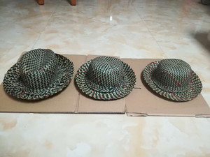 Wholesale Pure natural plant straw handmade hand made straw hat styles
