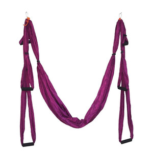 Wholesale 2018 High Strength Decompression Hammock Inversion Trapeze Anti-Gravity Aerial Traction Yoga Gym Swing Hanging With 6 Colors