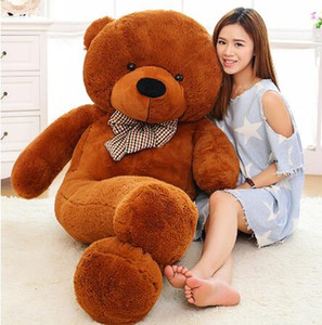 Wholesale Large Size cm cm cm cm Stuffed Teddy Bear Plush Toy Big Embrace Bear Kids Doll Lovers Christmas Gifts Birthday gift