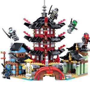Ninja Temple 737+pcs DIY Building Block Sets educational Toys for Children Compatible legoing ninjagoes free shipping