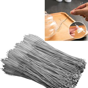 Wholesale Stainless Steel Straw Cleaning Brush Nylon Straw Cleaners Cleaning Brush for Drinking Pipe Stainless Steel Glass