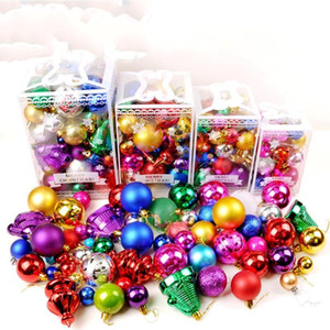 ingrosso decorare gli alberi di natale-Christmas Ornament Festival Ball Tree Happy Day Decorazione palle Green Trees Pendant Multi Package Decoration jc4 ff
