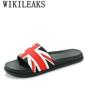 Wholesale summer beach slippers men shoes zapatos hombre pantufas de pelucia brand Union Jack sandals men fashion designer Slides ciabatte