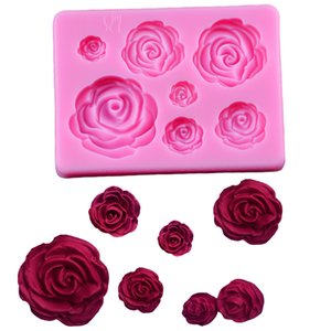 Wholesale 3D Silicone Mold Rose Flower Sugarcraft silicone mold fondant cake decorating tools chocolate gumpaste