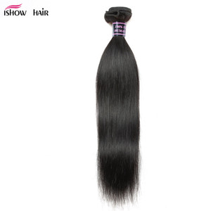 Ishow Human Hair Wholesale 8A Unprocessed Brazilian Hair Peruvian Malaysian Body Straight Loose Deep Water Curly Weaves Dyeable