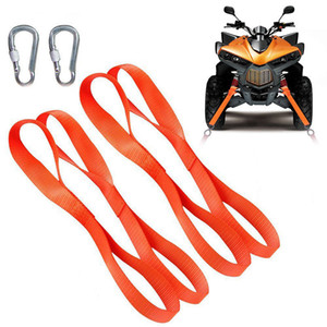 "4pcs 12"" Universal Motorcycle Soft-Loops Tie Down Straps Break Strength Towing Ropes Prevent Scratches For Motorbike ATV GGA185 on Sale"