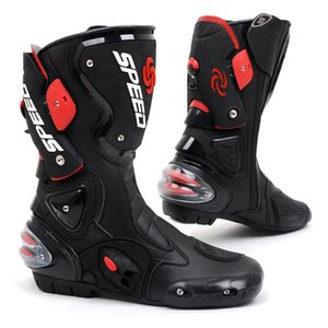 New style cycling leather boots motorcycle boots Racing riding waterproof windproof b1001 on Sale