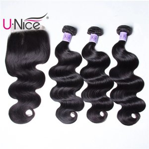 Wholesale UNice Hair Kysiss Virgin Series Brazilian Body Wave Virgin Hair Bundles With Closure Peruvian Virgin Hair 3 Bundles With Closure Wholesale