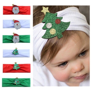 Wholesale Fashion Multicolor Cute Baby Christmas Patterns Headbands Hair Accessories Soft Kids Gifts Beautiful Decor