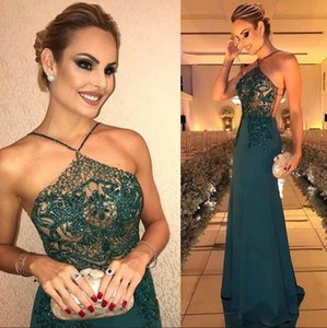 ingrosso vestito per il grasso di sera-Mermaid Backless African Evening Gowns Abiti occasioni speciali Sheer Top Long Prom Dresses Fat Women