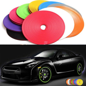 Wholesale car sticker covers resale online - 8Meter Roll Wheel Car rims Protection Sticker Hub Tire auto Decorative Styling Strip Wheel Rim Tire Edge Sticker Covers Auto Accessories