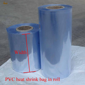 Wholesale shrinking wrap for sale - Group buy 1kg cm width PVC Heat Shrink Wrap tube in roll Clear Plastic Polybag Gift Cosmetics Packaging DIY cut