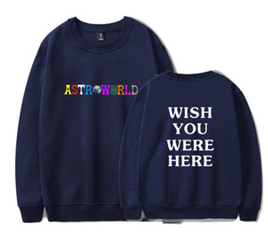 Wholesale Mens O Neck Pullover Sweatshirt Women Clothes Fashion Casual Hoodies Lovers Travis Scott Astroworld Print High Street Sweater Hoodie