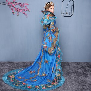 Wholesale NEW costume women hanfu Trailing Dress female Chinese traditional Clothing china black Swordswomen TV Movie Stage Outfit
