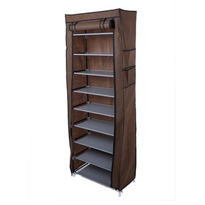 Fashionable Room-saving 9 Lattices Non-woven Fabric Shoe Storage Shoe Rack Coffee fast shipping in USA local stock
